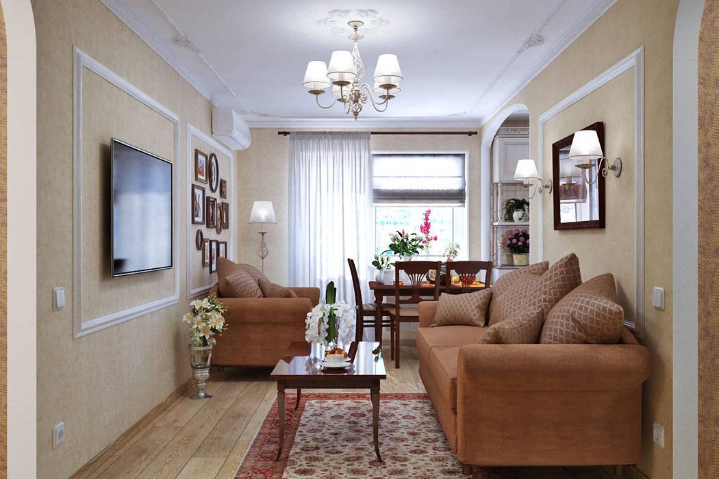 Soggiorno in stile in stile classico di студия дизайна interior ...