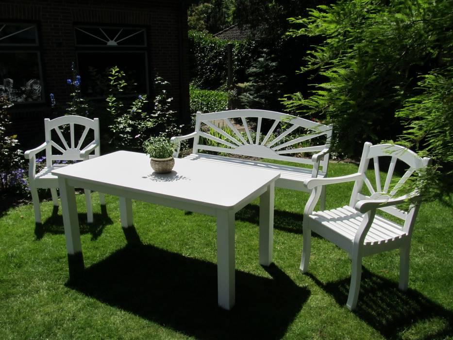 Holz Gartenmöbel In Weiß Als Sonderanfertigung Garten Von