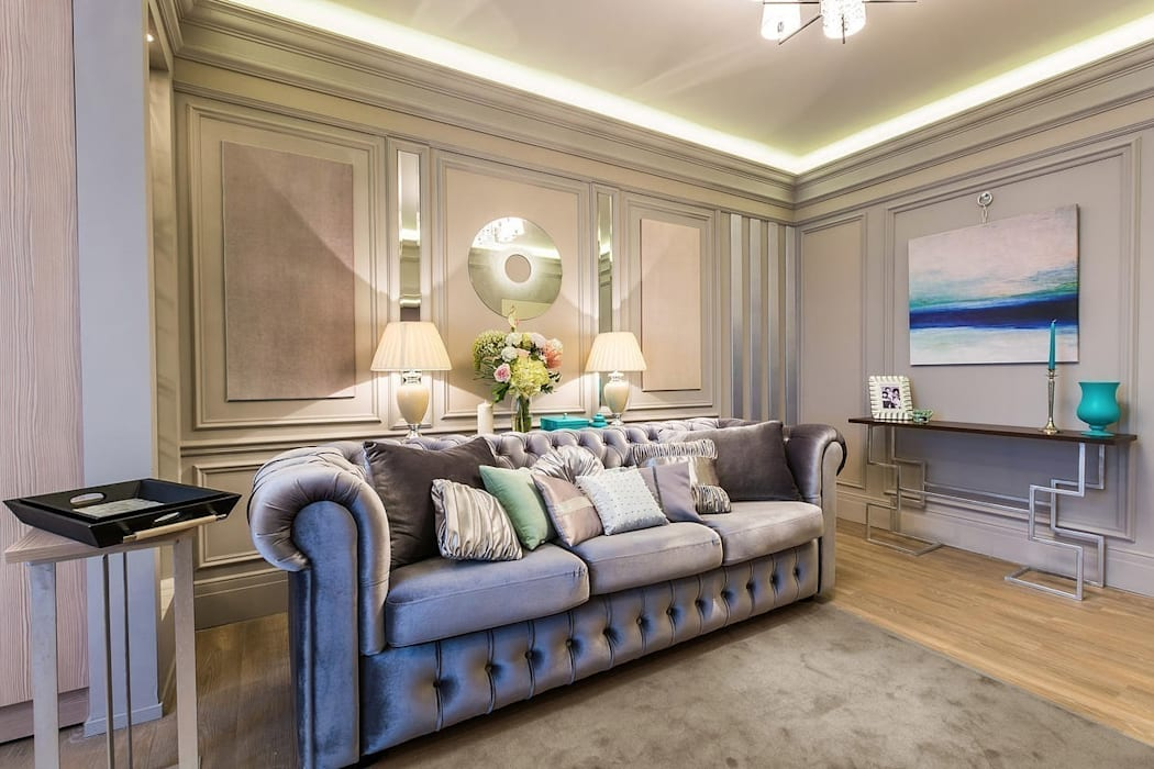 Salas de estilo moderno de Tony House Interior Design & Decoration Moderno