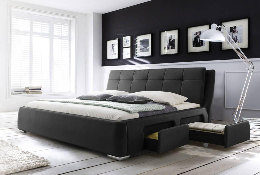 Wasserbett mit bettrahmen und ausziehbaren laden: schlafzimmer von ...