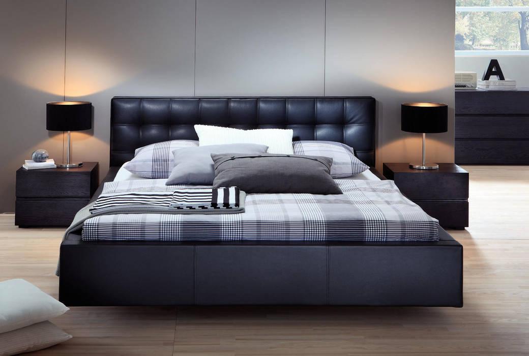 Wasserbett mit bettrahmen in lederoptik: schlafzimmer von suma ...