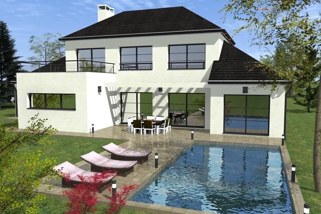 Modèle de maison DECIMA: Maisons de style de style Moderne par Construire Online