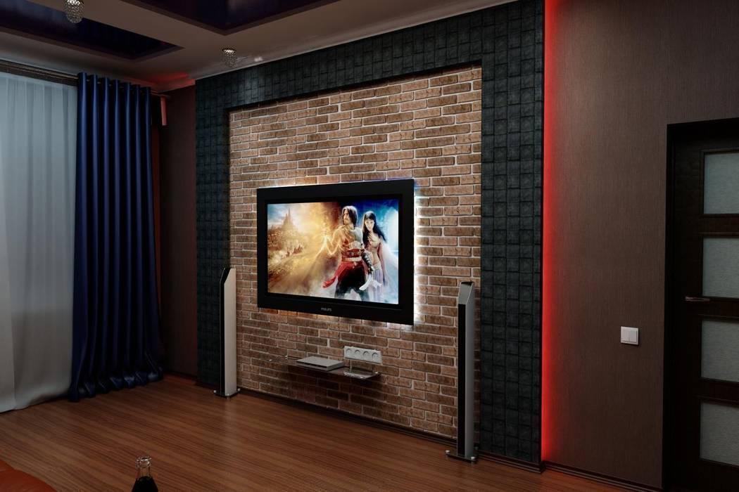 Кинозал в частном доме: Медиа комнаты в . Автор – Цунёв_Дизайн. Студия интерьерных решений.,