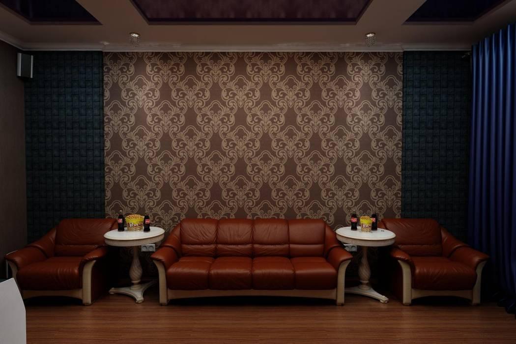 Кинозал в частном доме: Медиа комнаты в . Автор – Цунёв_Дизайн. Студия интерьерных решений., Модерн