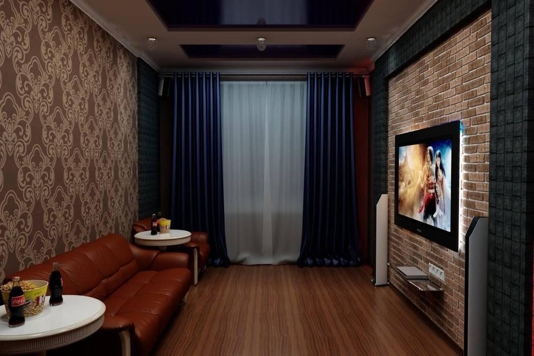 Кинозал в частном доме: Медиа комнаты в . Автор – Цунёв_Дизайн. Студия интерьерных решений.