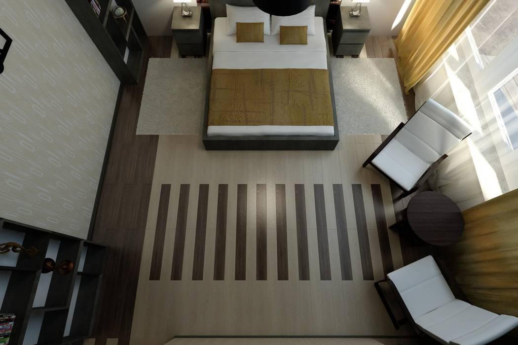 Интерьер с мебелью из IKEA.: Спальни в . Автор – Цунёв_Дизайн. Студия интерьерных решений., Минимализм