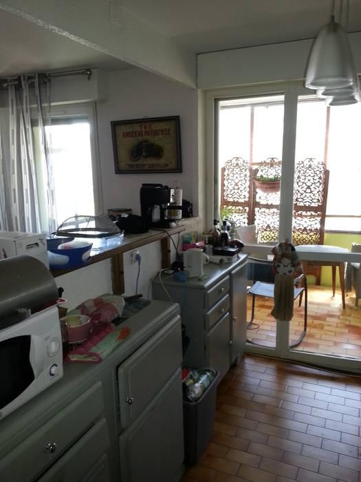 Avant:  de style  par Les cuisines d'Arno