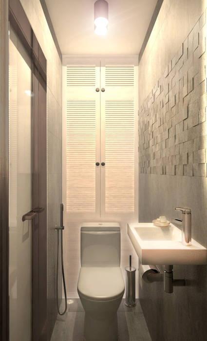 Туалет 2: Ванные комнаты в . Автор – Inna Katyrina & 'A-LITTLE-GREEN' studio interiors