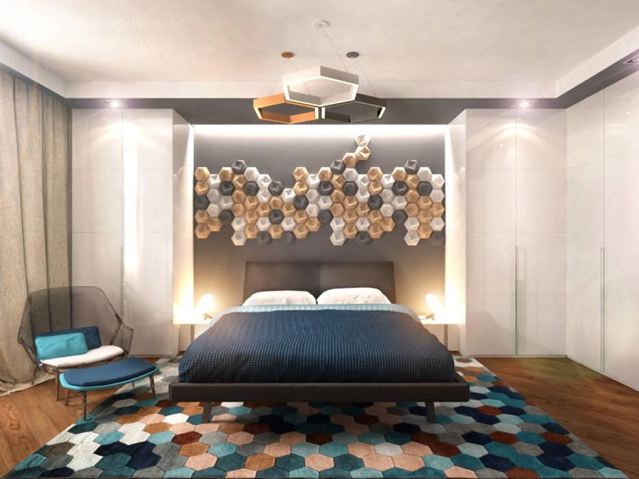 Спальня 1: Спальни в . Автор – Inna Katyrina & 'A-LITTLE-GREEN' studio interiors