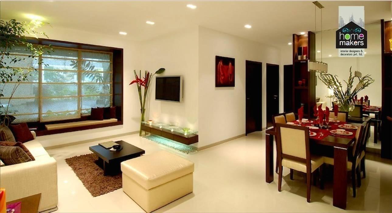 Beige Living Room: modern Living room by home makers interior designers & decorators pvt. ltd.