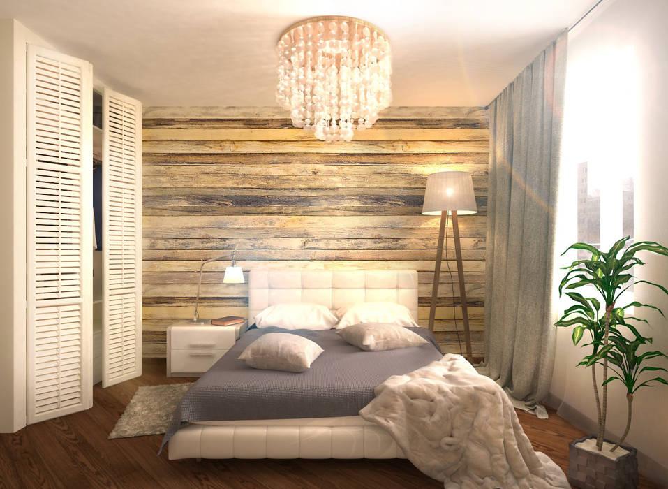 Гостевая спальня 1: Спальни в . Автор – Inna Katyrina & 'A-LITTLE-GREEN' studio interiors