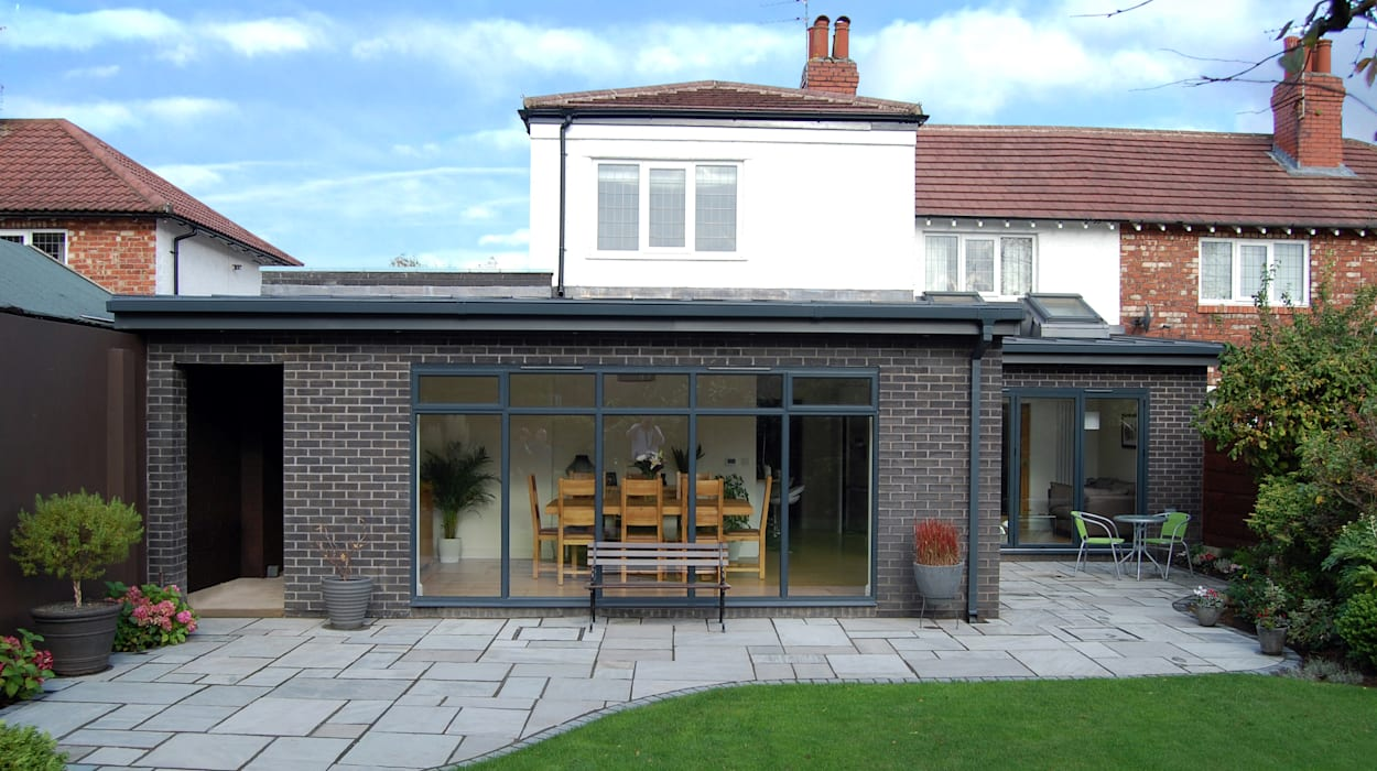 Extension to rear, Sun Room, Kitchen and Living Room Grant Erskine Architects Modern conservatory