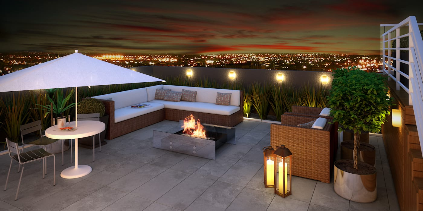 Modern balcony, veranda & terrace by Monte Arquitetura Modern