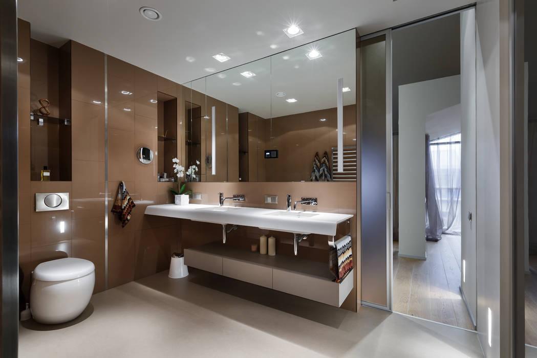 Ванная комната. Ванная комната в стиле минимализм от (DZ)M Интеллектуальный Дизайн Минимализм