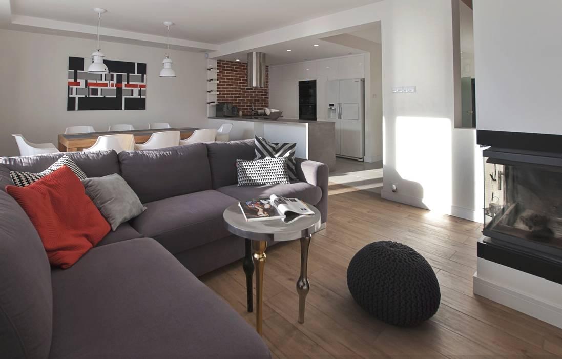 Salon: styl , w kategorii Salon zaprojektowany przez Antracyt