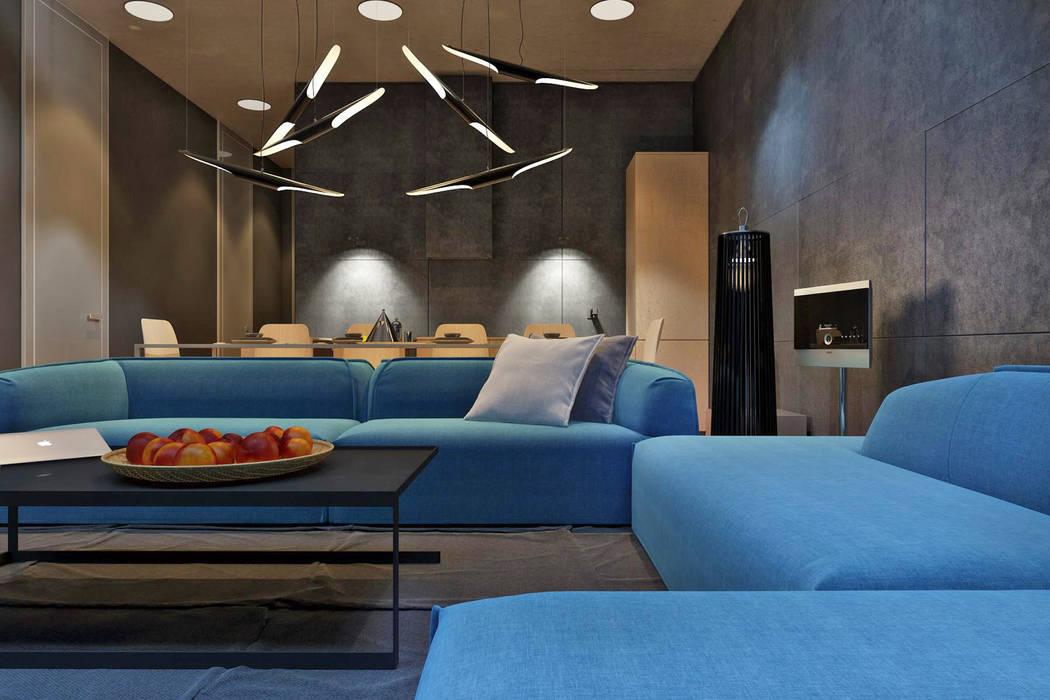 IGOR SIROTOV ARCHITECTS Salas de estilo minimalista