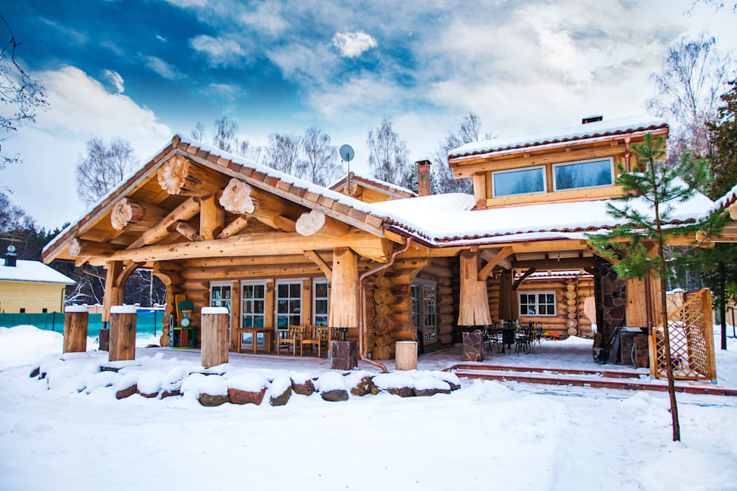 Rustic style house by Роял Вуд Rustic