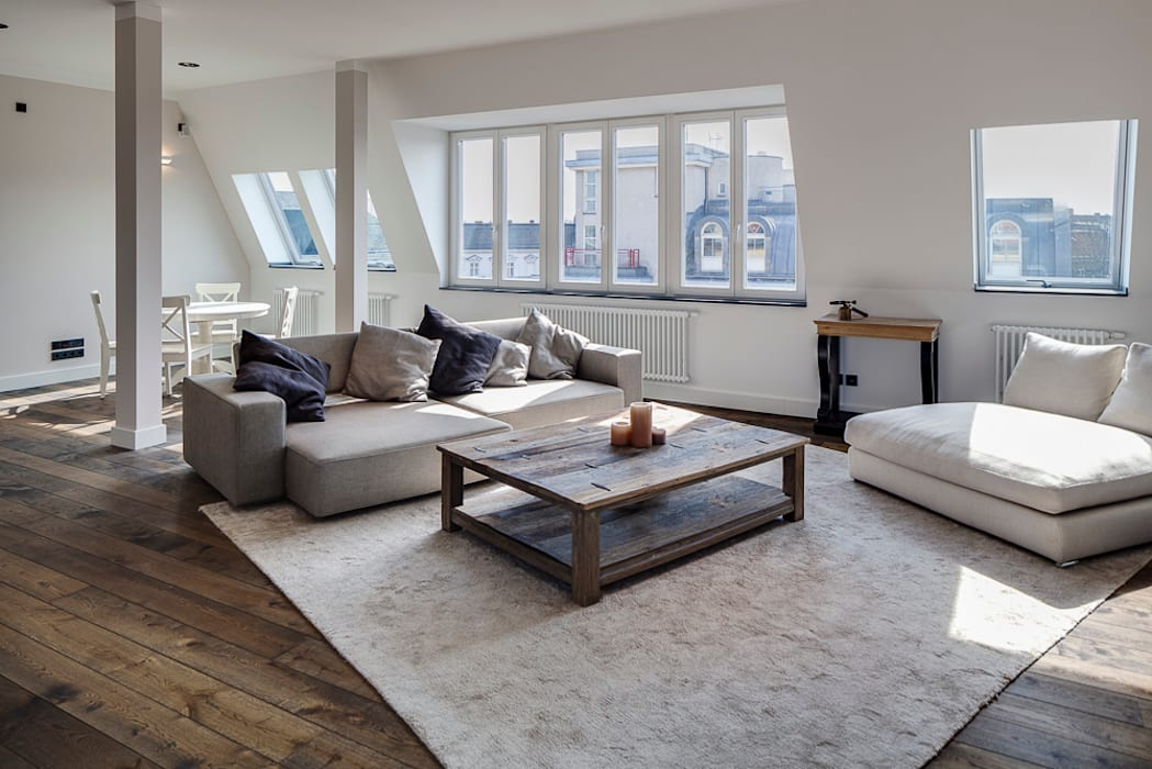Wohnzimmer Im Modernen Stilmix Moderne Wohnzimmer Von