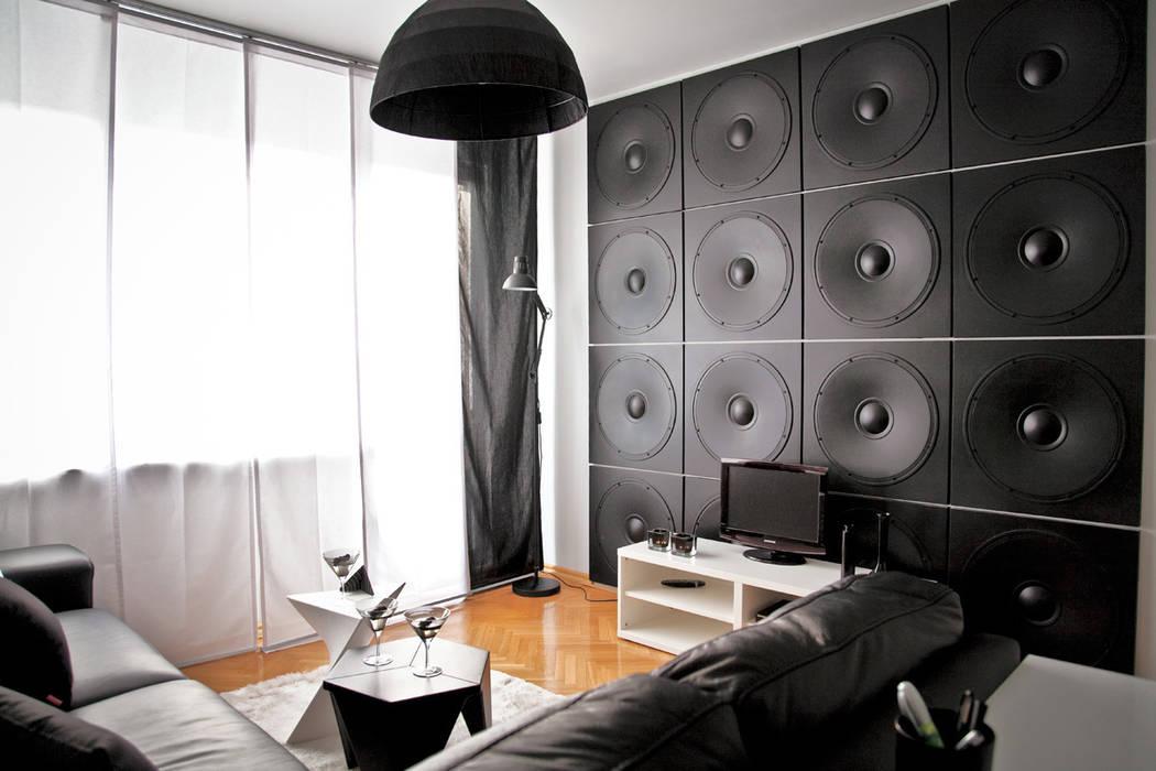"""3d wandpaneele """"lautsprecher """" motive wandgestaltung: wohnzimmer von ..."""