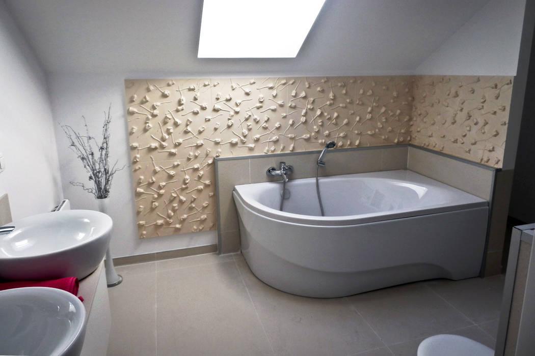 Motto wandverkleidung im badezimmer – rose klassische ...