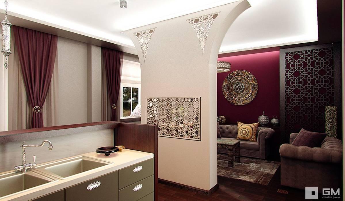 Интерьер дома в восточном стиле GM-interior Гостиные в эклектичном стиле