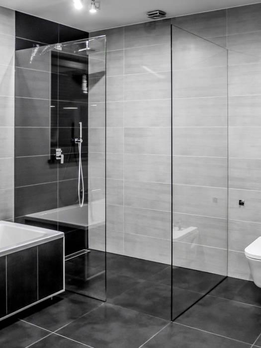 Łazienka, dom jednorodzinny, Słubice Nowoczesna łazienka od Sałata-Pracownia Architektury Wnętrz Nowoczesny
