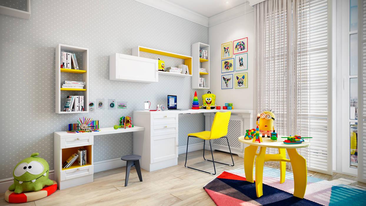 Skandynawski pokój dziecięcy od CO:interior Skandynawski