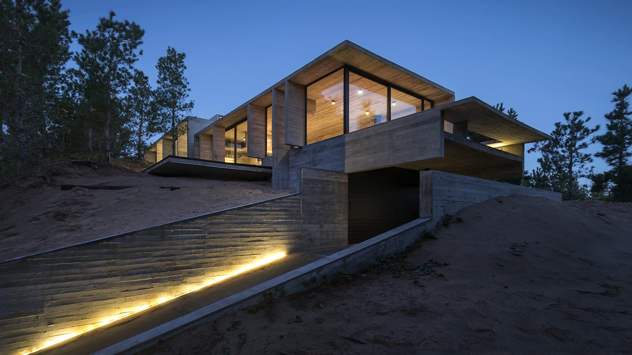 CASA WEIN Casas modernas: Ideas, imágenes y decoración de Besonías Almeida arquitectos Moderno