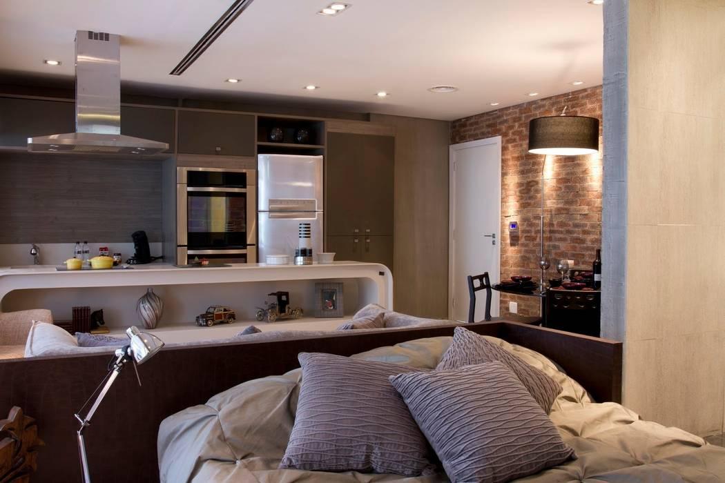 Ambientes integrados Cozinhas modernas por Ana Bartira Brancante Arquitetura Moderno