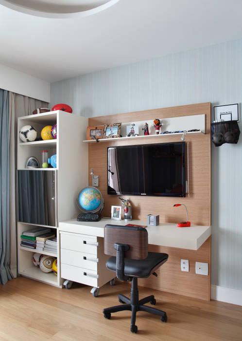 Apartamento na Barra da Tijuca: Quarto infantil  por Ana Adriano Design de Interiores,Moderno