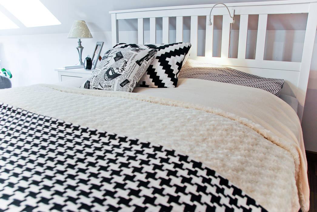 Scandinavian style bedroom by YNOX Architektura Wnętrz Scandinavian