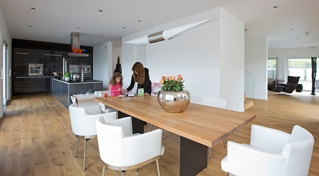hausentwurf herausragende kuben esszimmer von okal haus gmbh homify. Black Bedroom Furniture Sets. Home Design Ideas