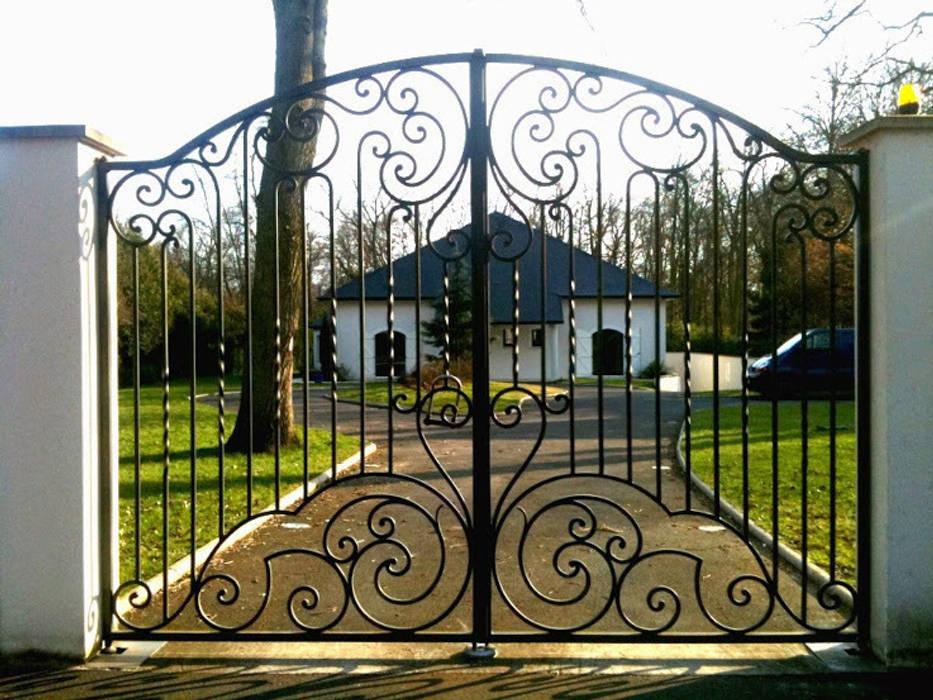 Ferforje Bahçe Kapıları Modern Bahçe Teknik Metal Ferforje Modern