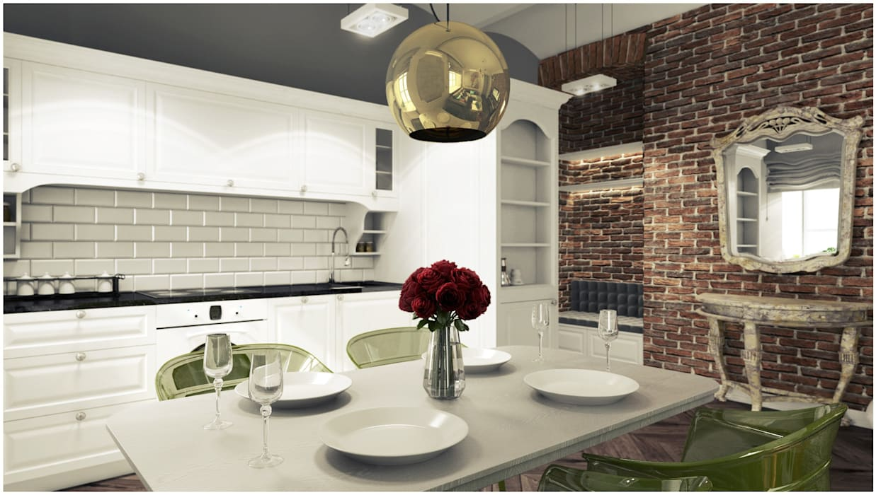 2k architektura Eclectic style kitchen