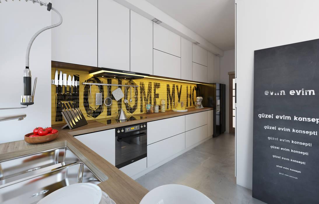 Modern style kitchen by İNDEKSA Mimarlık İç Mimarlık İnşaat Taahüt Ltd.Şti. Modern