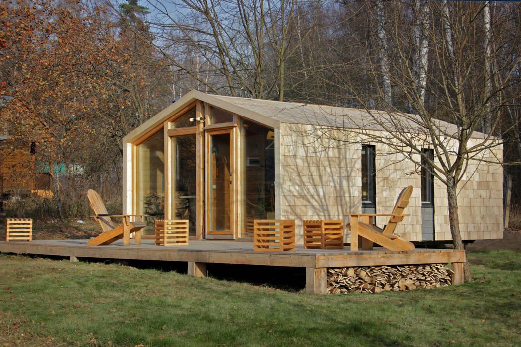 ДубльДом  с деревянной отделкой : Дома в . Автор – BIO - architectural Bureau of Ivan Ovchinnikov