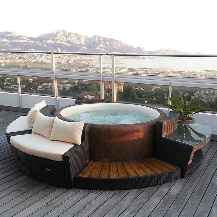 Jardines de estilo moderno por muebles caparros homify - Muebles caparros ...
