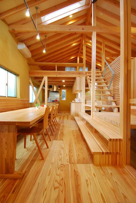 Eclectic style dining room by 豊田空間デザイン室 一級建築士事務所 Eclectic