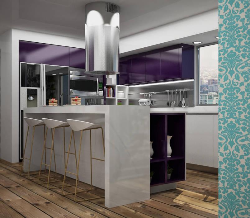 Modern kitchen by Citlali Villarreal Interiorismo & Diseño Modern
