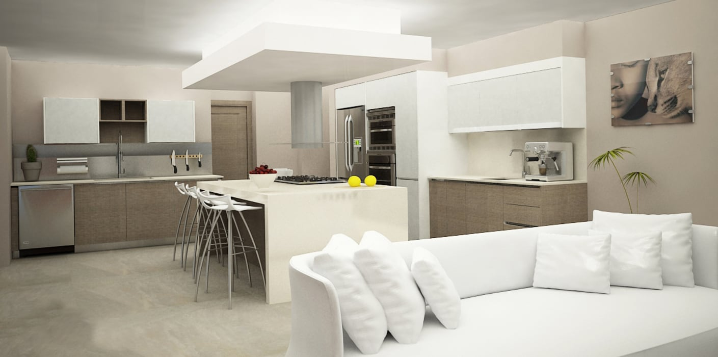 Кухни в . Автор – Citlali Villarreal Interiorismo & Diseño, Модерн