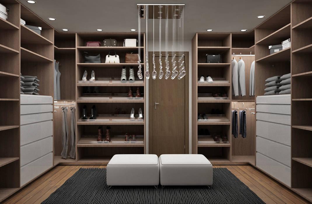Ruang Ganti oleh Citlali Villarreal Interiorismo & Diseño, Modern