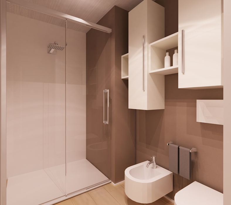 bagno:doccia e sanitari: Bagno in stile  di Azzurra Lorenzetto