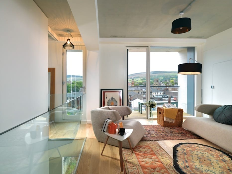 The Pattern House reForm Architects Modern Living Room