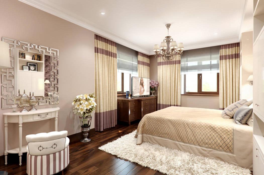 Спальня в брусничных тонах K-Group Спальня в классическом стиле