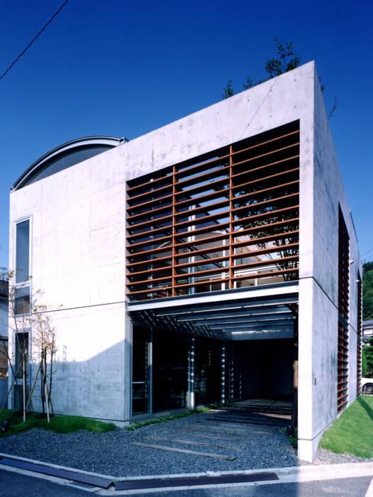 コートハウスの外観 ミニマルな 家 の 土居建築工房 ミニマル