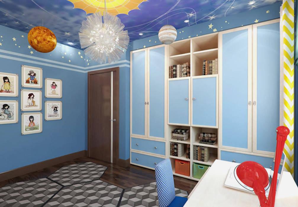 """Детские комнаты """"день и ночь"""" для мальчиков. Спальня """"ночь"""".: Детские комнаты в . Автор – K-Group"""