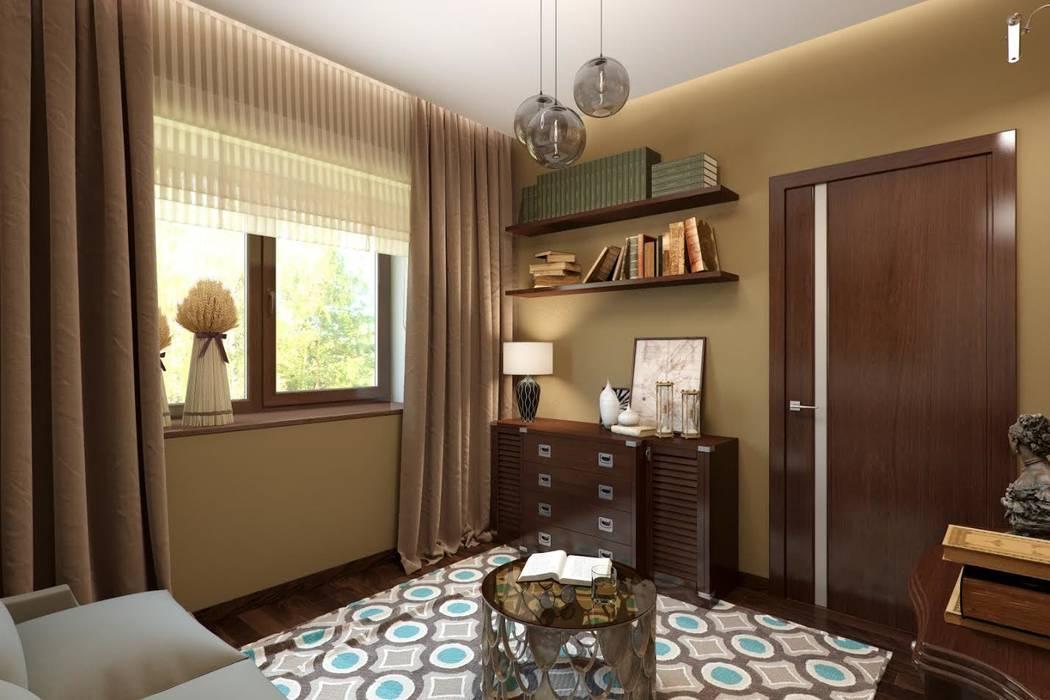 Кофейная гостиная.: Гостиная в . Автор – K-Group, Колониальный