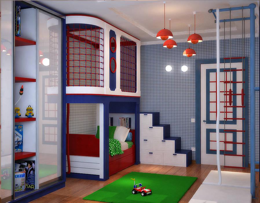 Chambre d'enfant minimaliste par Студия дизайна Interior Design IDEAS Minimaliste