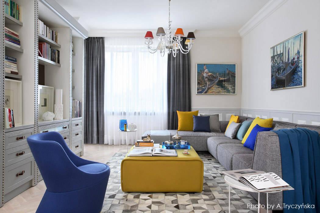 Pokój dzienny w kamienicy: styl , w kategorii Salon zaprojektowany przez MG Interior Studio Michał Głuszak