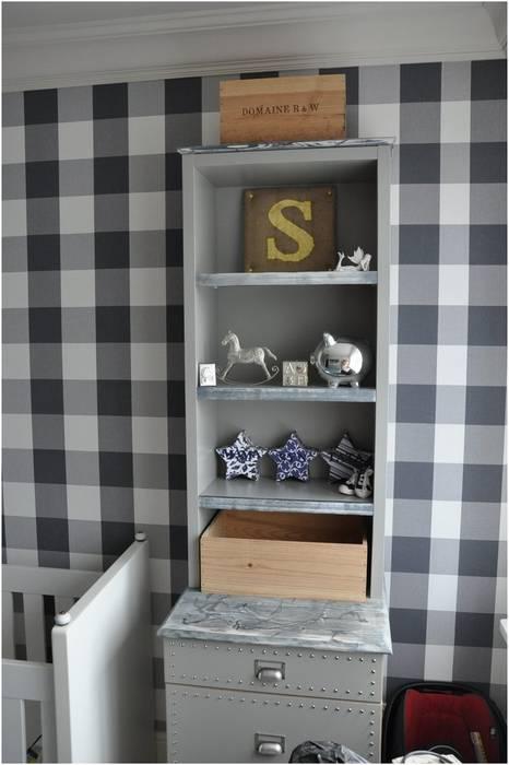 Tapeta w kratę w dziecięcym pokoju: styl , w kategorii Pokój dziecięcy zaprojektowany przez MG Interior Studio Michał Głuszak